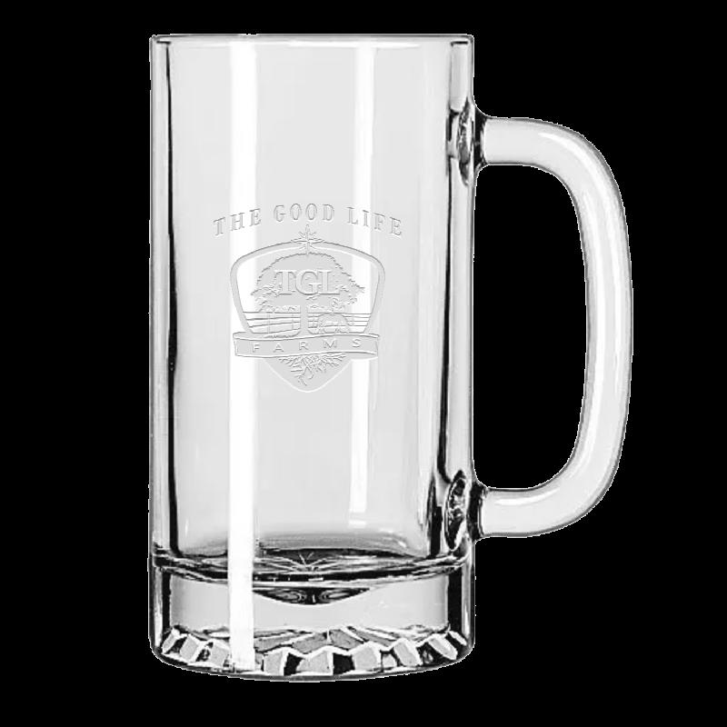 TGL Farms etched beer mug