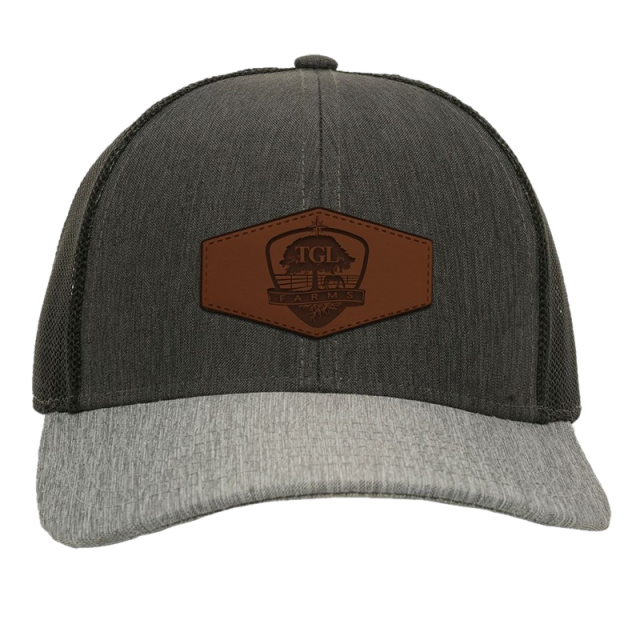 TGL Farms Heather Grey, Charcoal and Black Ballcap